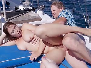 Captain Penis screwed team a few very hot 18yo schoolgirls on his boat