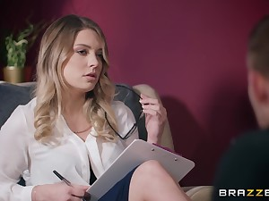 Nerdy blonde post slut Giselle Palmer creampied while in excess of say no to break