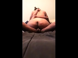 Ebony busty hottie blowjob riding big black cock