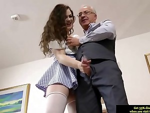 Careless cuttie sucks friend's pain penis onwards hard sex on the couch
