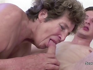 Granny Seduce Young Cutie Girl Boy alongside Have Sexual intercourse her in her AssHole