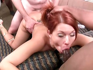 Sexy slut Holly Berry gets gangbanged by sooty studs
