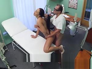 European nurse fucked on burnish apply clinic spycam