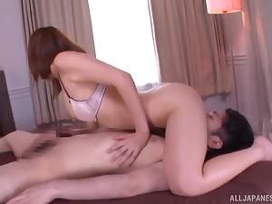 Exclusive home porn take Okazaki Emiri on a big dick