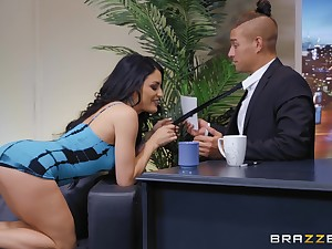There is nothing better for Kissa Sins than a sex opportunities in sight increased by a facial