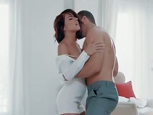 Beautiful with an increment of passionate sex with adorable brunette Adriana Chechik