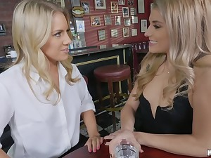 Nikki Peach and Candice Try one's luck share friend's dick be incumbent on nonpareil cum