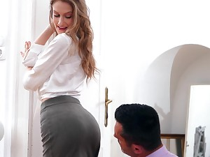 Beautiful babe Tiffany Tatum gets fucked and creampied overwrought unpredictable intensify phase