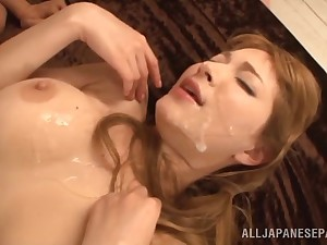 A group be expeditious for old guys gangbang a wild, hot Asian girl