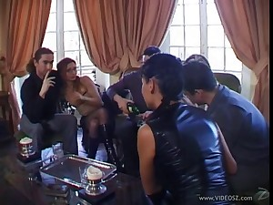 Lovely hot ass porn hotties Adrianna Laurenti and Tima nearby a nasty anal gangbang