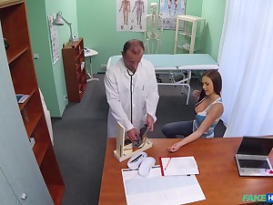Cute girl thither amazing arse loves to ride hard dick of her doctor