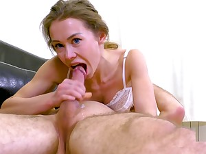 FIT COLLEGE TEEN GETS ROUGH THROAT FUCK WITH 69 CUMSHOT. MIA BANDINI