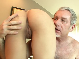 Old vs oung porn with cum in mouth of adorable Sadie Holmes