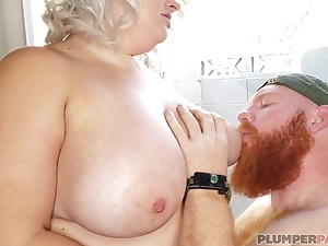 Red-bearded viking fucks fat mature Tiffany Star