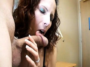 Girlfriend gives him adieux blowjob handjob facial