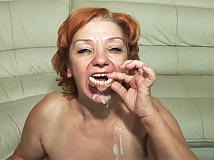 74 age old toothless mom fucked