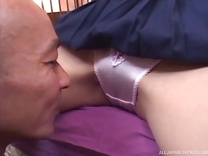 Amazing video of a starved Japanese darling having smooth dealings