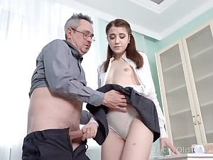 Kinky university filly is ready back seduce will not hear of elder statesman tutor back loathing analfucked