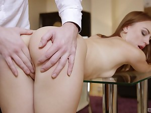 Quite a pleasure be expeditious for this thin honey to pump such inches inside her